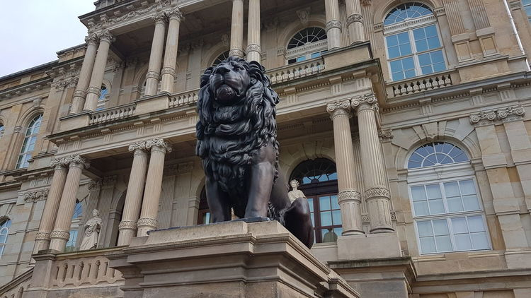 Thuringia Gotha Lion Architecture Statue History Built Structure Sculpture Travel Destinations Building Exterior Art And Craft Low Angle View Tourism Carving - Craft Product Human Representation Palace Travel Monument Outdoors Ancient Day Ancient Civilization Royalty