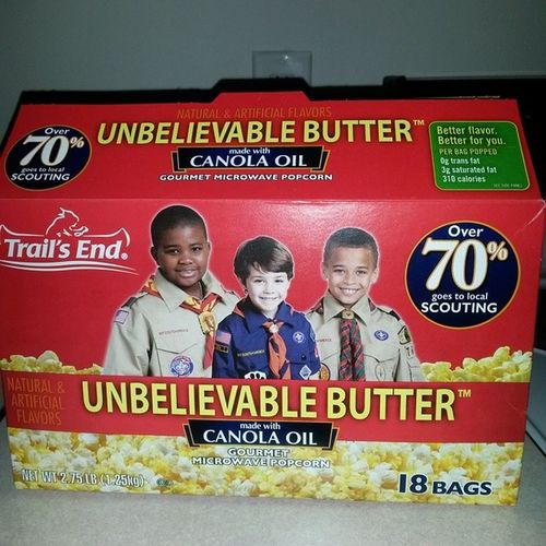 Boyscout popcorn is the tits. Unbelievablebutter