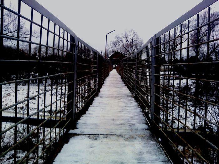 Taking Photos Snow River Bridge Way