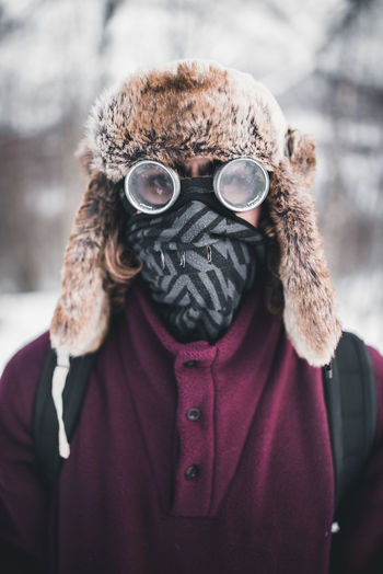 Close-up Cold Temperature Day Focus On Foreground Front View Headshot Leisure Activity Lifestyles Looking At Camera Men Nature One Person Outdoors People Portrait Real People Snow Warm Clothing Weather Winter Young Adult The Traveler - 2018 EyeEm Awards