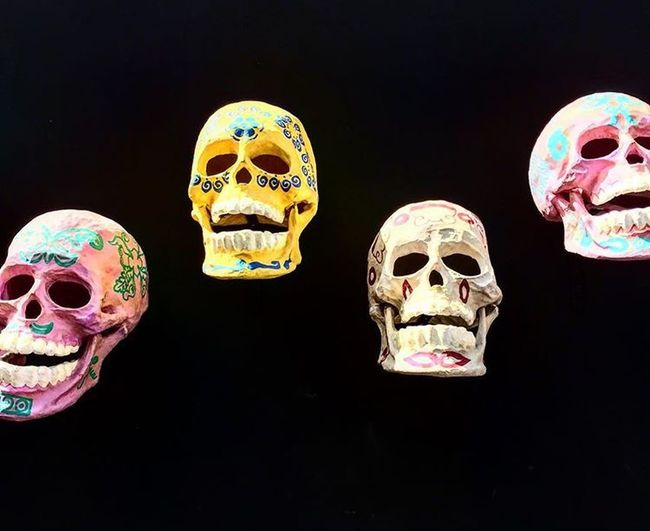 Skulls Decoration Mexico Mexico City Dia De Los Muertos Day Of The Dead Mexican Art Light And Shadow Colours Colourful Symbol