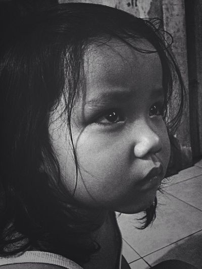 Baby girl is serious watching Captain Jack Sparrow. Adorable Justlikeme Happykiddo Moviebaby