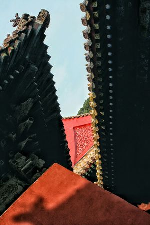 Getting Creative 90° Ancient Architecture Chinese Temple Confucius 'house in QuFu ShanDong China.