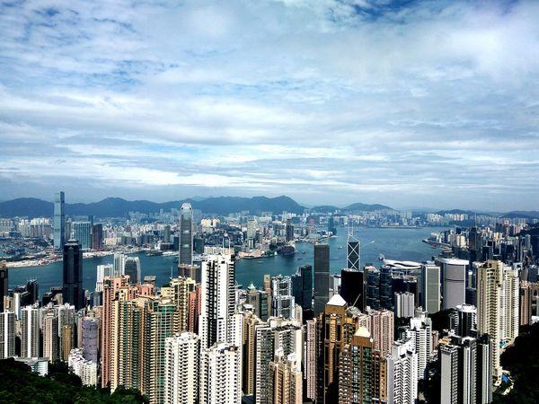 Hong Kong City Hong Kong Skyline Skyscraper Cityscape Architecture Hong Kong Peak