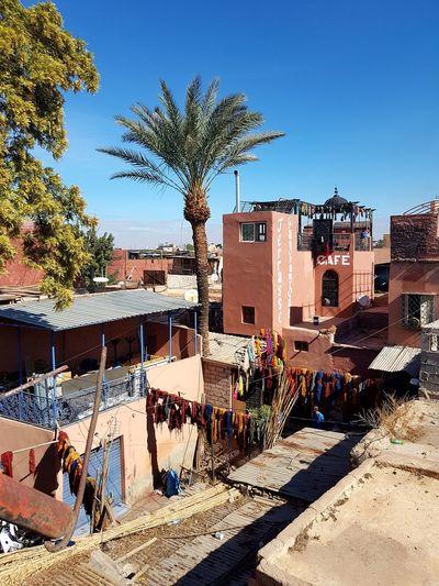 Marrakesh❤ Maroc ❤️ Clear Sky No People Travel Terrace Dyer´s Souk Moroccan Style Travel Destinations Marrakech Morocco