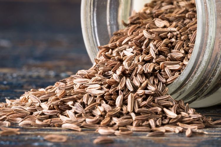 Caraway seeds Healthy Food Cuisine Culinary Ingredient Spilling Seasoning Close-up Spice Dried Whole Seeds Healthy Eating Caraway No People