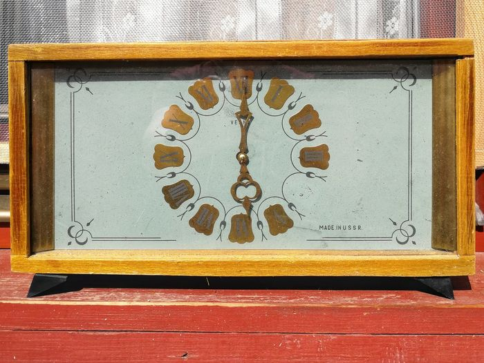 Clock Oldclock No People Day Metal Close-up Architecture Outdoors Pattern Sunlight Old Art And Craft Design Geometric Shape