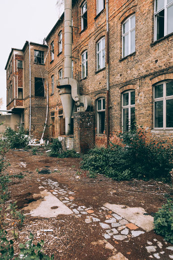 Building Exterior Architecture Built Structure Building Residential District Window City No People House Old Day Damaged Outdoors Abandoned Destruction Run-down Nature Brick Broken Plant Ruined