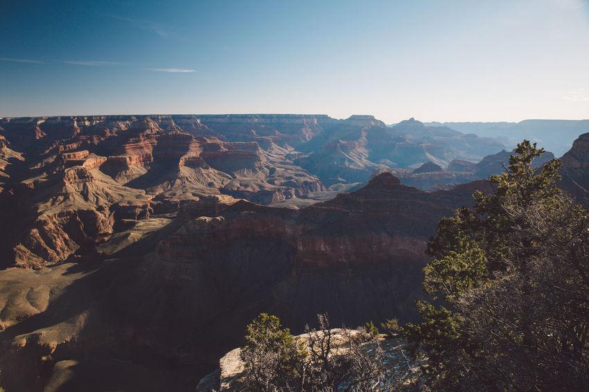 Arizona Grand Canyon Grand Canyon National Park Rock Formation Tourist Attraction  Arid Climate Canyon Landscape Mountains Sunrise Tourist Destination