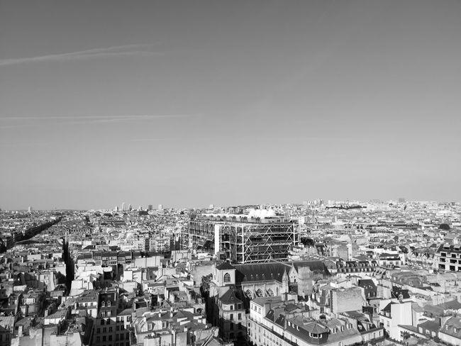 Paris landscape Pompidou Center Cityscape Cityscape City Crowd Sky Building Exterior Architecture