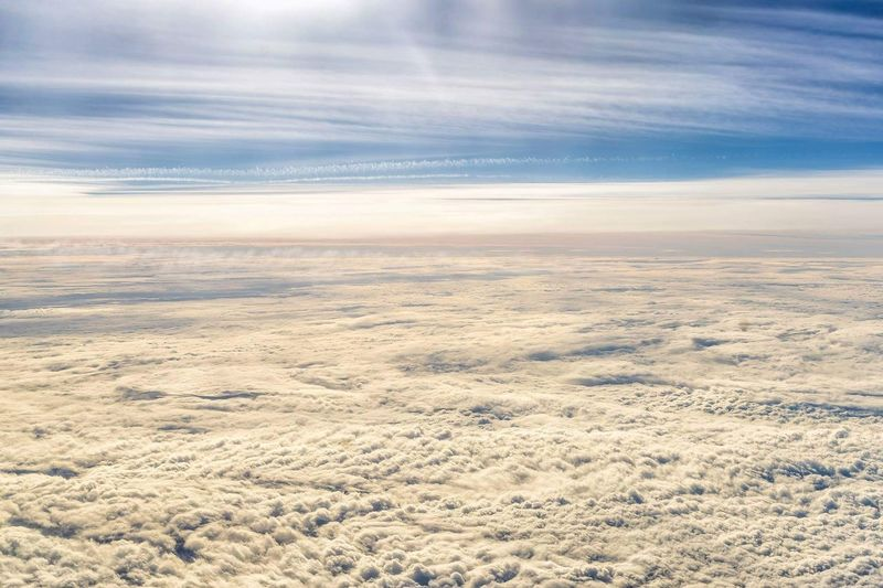 Cloudscape Sky Cloud - Sky Scenics Dramatic Sky Nature Tranquility Beauty In Nature No People Aerial View Cloudscape Airplane Taking Photos Travel Travelblogger Aerial Photography Tranquility