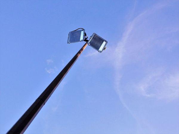 Halogen Lamps Halogen Lights Outdoor Blue Sky Illumination Streetlight Looking Up! Gridlove