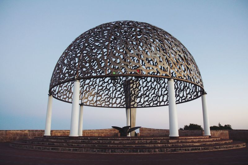 Geraldton Landmark Iconic HMAS Sydney II Geraldton Western Australia Perth Australia Sky Nature Architecture Built Structure Clear Sky Dome Day Landscape Environment Field Travel Destinations Building Exterior Land Outdoors