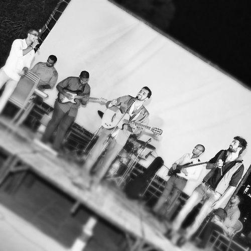 Acacia Gohar Sadiq Ammar Hany Omar  Hussein Shikoo 3oof Drabuka Drum Guitarists Microphone 🎤 Organ Stage Live Concert Blackandwhite Friend 's
