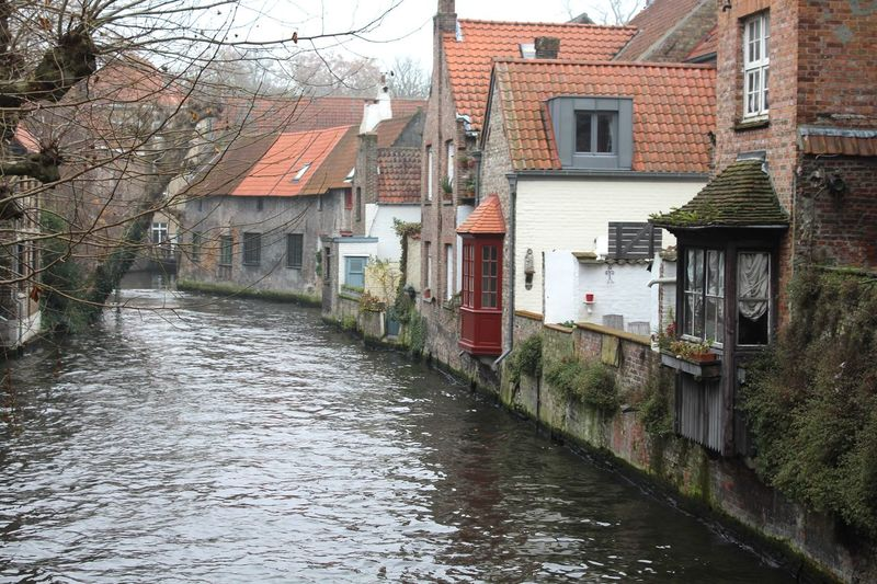 """""""Venice of North"""" I loved this place, added to my favourite European towns. Brugge Brugge, Belgium Belgium Fairy Tale Town Medieval Architecture Medieval Town Canal Waterfront No People Outdoors Europe Europe Trip Bare Tree Lovely View Finding New Frontiers"""