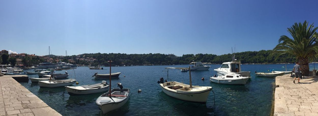 Cavtat harbour First Eyeem Photo IPhoneography Harbour Boats Picturesque Tranquility