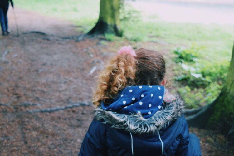 Rear View Of Girl At Park