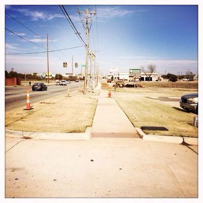 Finally they put a sidewalk Downf this damn street Hipstamatic Jane Blanko