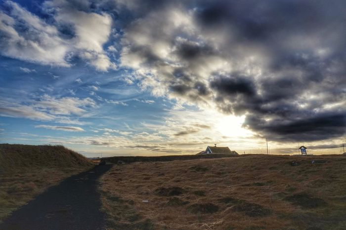 Oldfarmhouse in Innri Njarðvik Beautifulday Sky And Clouds Sky_collection Beautiful Nature