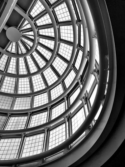 Built Structure Architecture Pattern Indoors  Low Angle View Glass - Material Ceiling Geometric Shape Shape No People Day Dome Skylight Window Design Circle Architectural Feature Sunlight Architecture And Art Cupola Directly Below Ornate Concentric