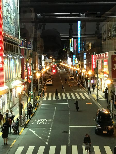 Japan Architecture Built Structure Illuminated Building Exterior City Transportation Large Group Of People Street Land Vehicle City Street Night Road Mode Of Transport City Life Car Real People Outdoors Travel Destinations Men People