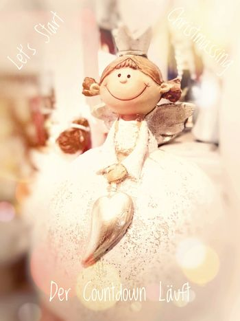 """Greeting Card - my Creation - """"Let's Start Christmassing - Der Countdown Läuft"""" . ... Christmas Christmas Ornament Celebration Business Finance And Industry Close-up Sculpture Female Likeness Statue Angel Male Likeness"""