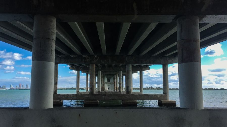Water Built Structure Architecture Sea Architectural Column Bridge Connection Bridge - Man Made Structure Sky Underneath Nature Day Land Outdoors Horizon Over Water