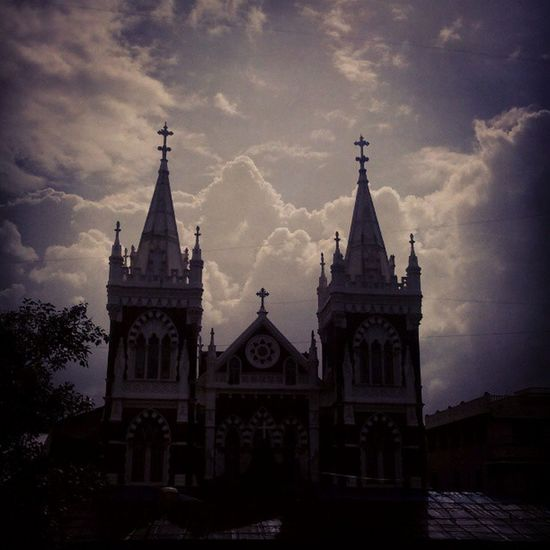 Mountmarychurch Feast Pilgrims Miracles Faith Believers Crowds of People Mothermary Placeofworship Instamumbai Instadaily Beautiful Decorated Architecture Flowers Heaven Clouds Openskies Silverlining Beautifulday Candles Colours Bandrafair Oldchurch landmark novenas toomanyhashtags