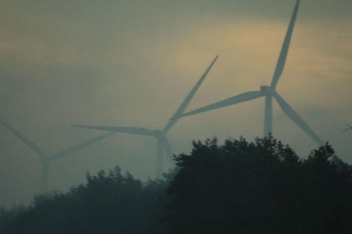 Wind Power Wind Turbine Outdoors Fog Nature Alternative Energy Spooky Atmosphere Spooky Windmill Unreal Unreal Light