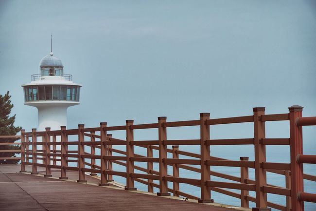 Taejongdae Recreation Area (태종대유원지(부산)) Architecture Bestoftheday Blue Built Structure Day Fence High Section Lighthouse Nature No People Outdoors Scenics Sky Tower Tranquil Scene Tranquility Travel Destinations