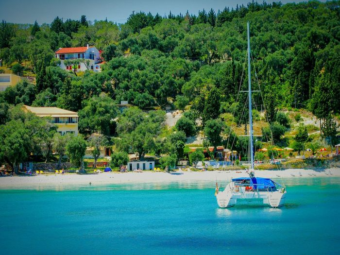 Showcase April Sailboat Beach Beach Photography On A Boat Shades Of Blue Blue Sea Blues Crystal Clear Waters Life Is A Beach Houses Seaside Seascape Seashore Sea Sailing Boat Boats Boat And Sea Forest Forest And Sea Nature Greenery Summer Memories 🌄 Blue Wave