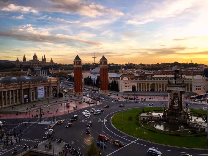 Plaça d'Espanya in all its glory ! With the Museum of Art in the background. SPAIN Sunset City Cityscapes Urban Geometry Urban Landscape Walking Around IPhoneography Check This Out Hello World Showcase: November Seeing The Sights