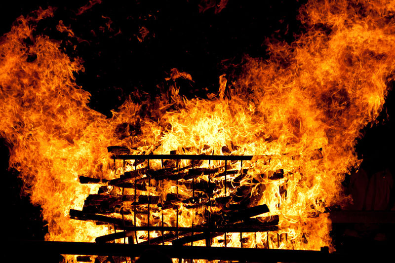 Ablaze Burning Carnival Chienbäse Close-up Fire Flame Heat Liestal Switzerlahd Tradition First Eyeem Photo
