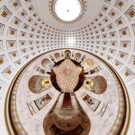 temple of Canova Church Church Architecture Temple Temple - Building Temple Architecture Italianarchitecture Canova AntonioCanova Possagno Cupola Pantheon Leadinglines 360photography 360photo 360view 360panorama  Italy Classical Classical Architecture EyeEm Selects Ceiling Dome Pattern Indoors  Concentric Architecture No People Time Roman Numeral