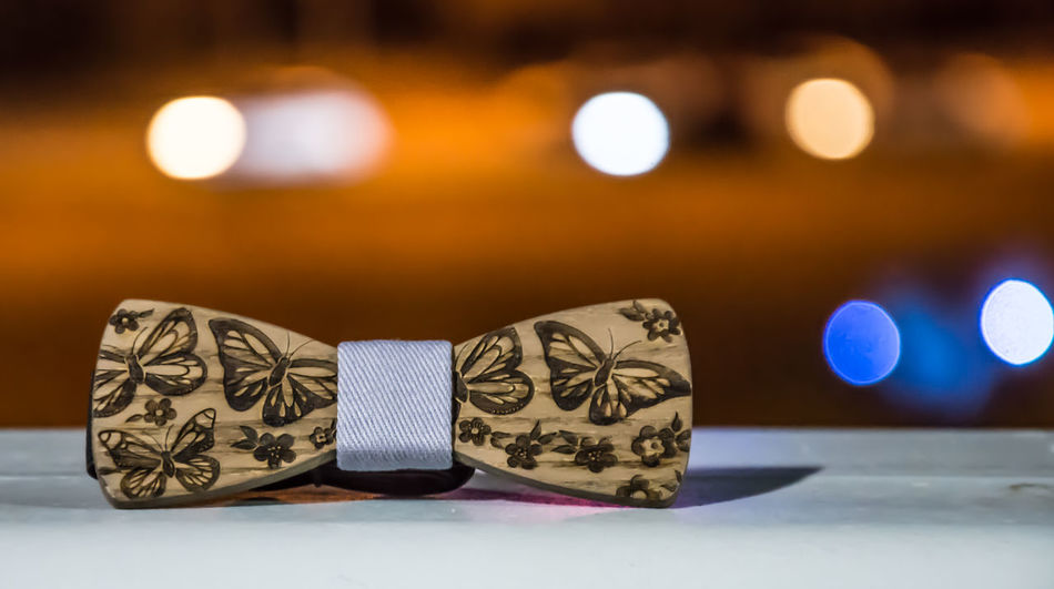 Bowtie Close-up Fashion Fashion, Model Handsome Pretty Boy Focus On Foreground Indoors  Wooden