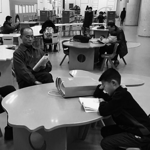Sitting Archival Real People Table Teamwork Indoors  Young Adult People Adult Day Black And White