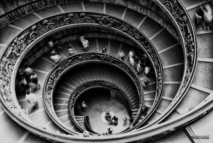 Architecture Built Structure Circle Coil High Angle View Incidental People Indoors  Men Railing Spiral Spiral Staircase Staircase Stairs Steps Steps And Staircases Tourism Walking