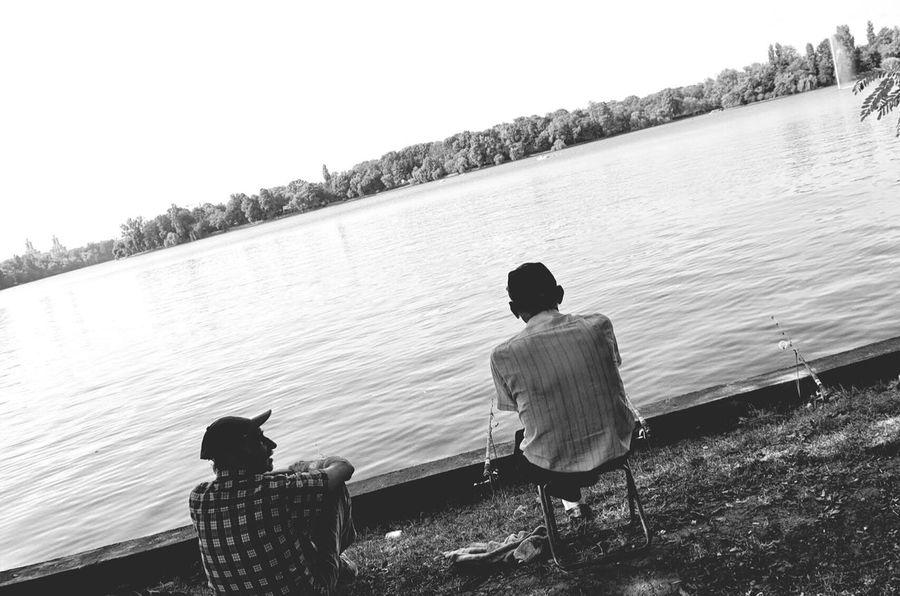 Two old friends fishing Blackandwhite Monochrome Streetphotography Enjoying Life