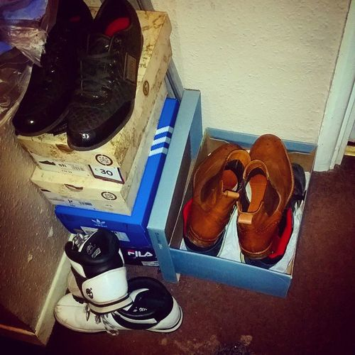Ithink i need Somewhere for my Shoes Shoeboxes take up too much space! Adidas Fila FireTrap Timberland RedHerring