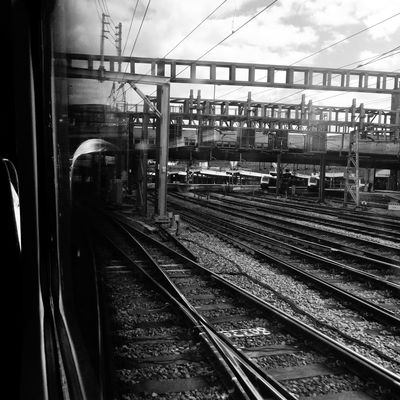 Travelling With Lonliness... Finding New Frontiers Railroad Track Transportation Rail Transportation Railroad Station Railroad Station Platform Sky Outdoors Day Building Exterior Architecture No People Train Station Travel Lonely London Lonliness Blackandwhite Traveling Home For The Holidays