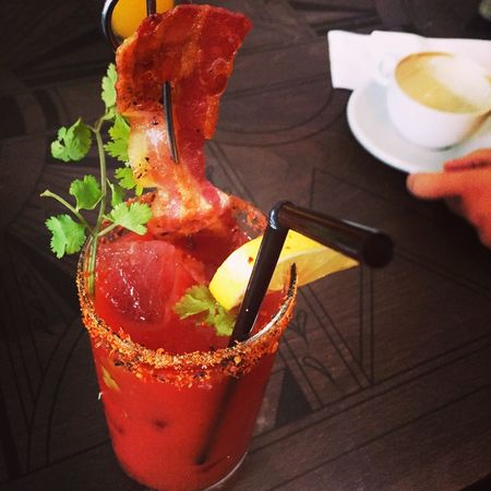 Bloody Mary with Bacon !