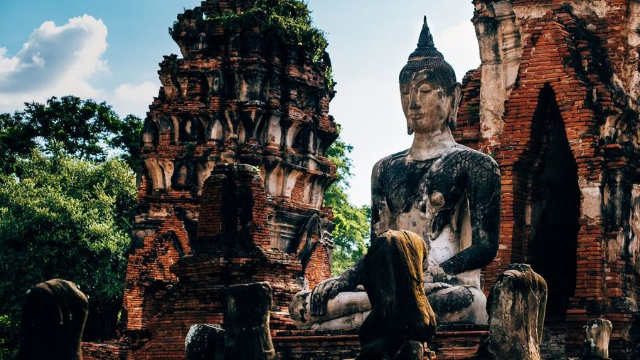 Wat Mahathat temple in ayutthaya, thailand Thailand Thailandtravel Thai Temple Temple Ayutthaya Thailand Thai Temple Built Structure Architecture Religion Belief Building Place Of Worship Spirituality Building Exterior Travel History