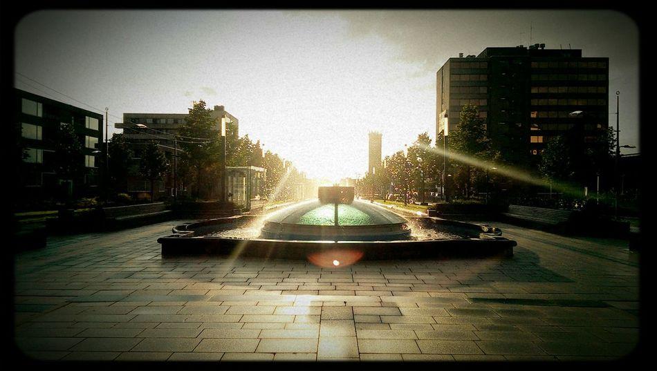 Sundown Fountain an amazing view towards the Nijmegen central station. Sun_collection, Sky_collection, Cloudporn, Skyporn