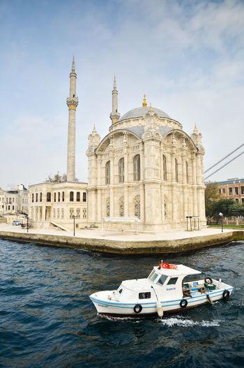 Architecture Boat Bosphorus City Istanbul Mosque Ortaköy Camii Outdoors Travel Destinations Turkey