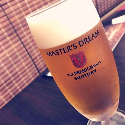 Japanese special beer. Good taste!! Beer Beer Glass Yummy