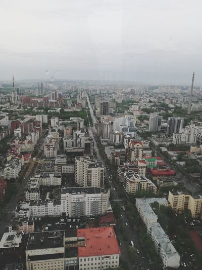 View to the beautiful city Cityscape Aerial View City High Angle View Fog Outdoors Day No People Sky Building Exterior Architecture Urban Skyline Travel View Up Street Cloud High Photoshoot