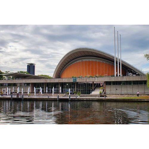 Beautiful Modern Architecture and Design . The HausDerKulturenDerWelt building by the SpreeRiver riverside . berlin Deutschland Germany . Taken by my SonyAlpha dslr dslt a57 . تصميم معمار مودرن مبنى نهر برلين المانيا