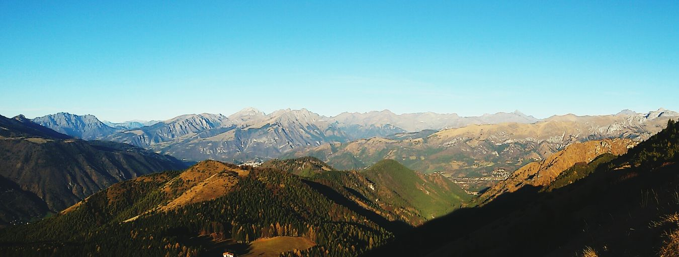 Orobie Peaks (around 3000m) without snow, end of December. Stoppolluting, Stopglobalwarming. Be Green, Be Ecofriendly