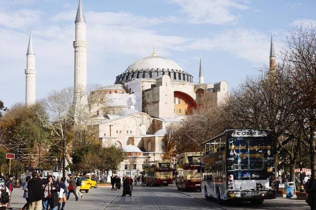 Hagia Sophia Dome Architecture Travel Destinations Religion Sky Built Structure Day Outdoors People