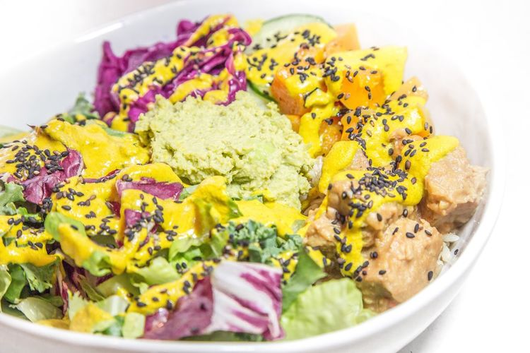 Vegan power bowl Food Food And Drink Healthy Eating Plate Freshness Close-up No People Ready-to-eat Bowl Chopped Indoors  Day Salad Power Bowl Vegan Organic